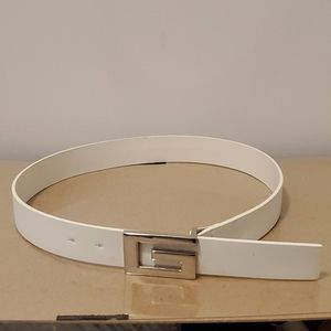 Guess Leather Belt Chrome Buckle